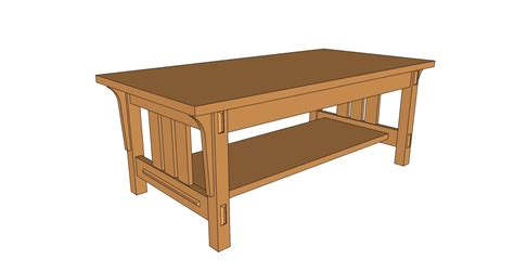 arts and crafts table ls arts and crafts style coffee table pdf plan the wooden