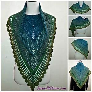 10 Free Patterns For Crochet Triangle Shawls