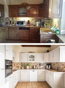 relooking d39une cuisine en bois avant apres nos With renovation cuisine bois avant apres