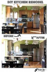 do it yourself backsplash for kitchen diy kitchen remodel the big reveal sugar bee crafts