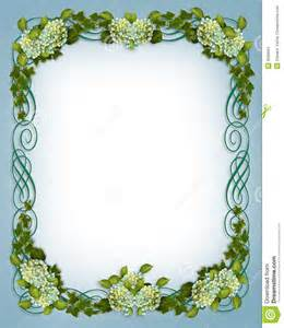 cadre mariage invitation de mariage de cadre de hydrangea de lierre images stock image 9599664