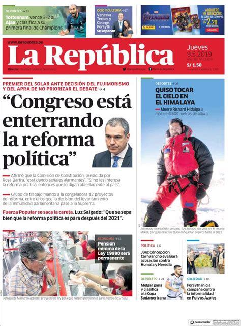 ULTIMAS NOTICIAS DEL DIA DE HOY ( PERU) - JUEVES 09 /05 ...