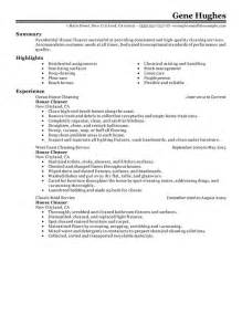 Commercial Cleaning Business Resume by Sle Resume For Cleaning Person Residential House