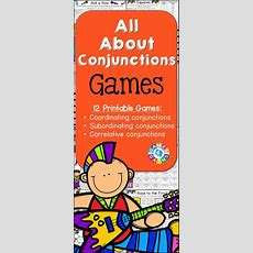 Conjunctions Games (with Coordinating Conjunctions & Subordinating Conjunctions) Student