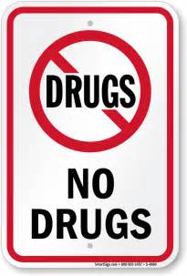 No Drugs Signs Free