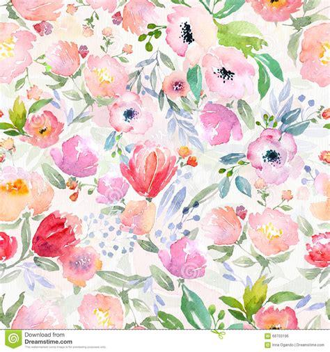 estampado de flores de la acuarela stock de ilustracion