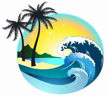 Clipart Sea Palm Island Clip Tree Transparent