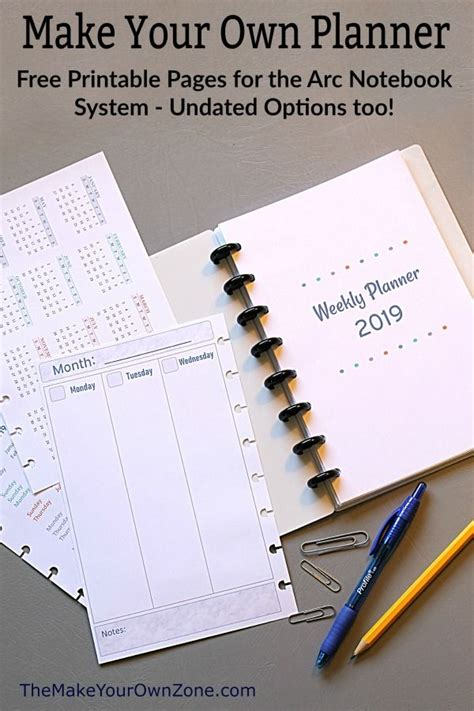 printable planner pages printable planner