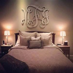best 25 monogram above bed ideas on pinterest wood With monogram letters over bed