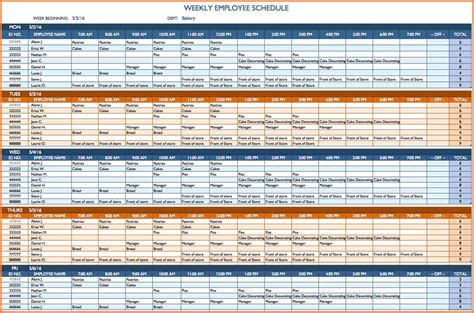 schedule spreadsheet template excel excel