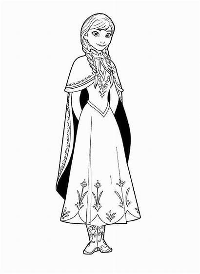 Frozen Elsa Anna Coloring Princess Disney Ana