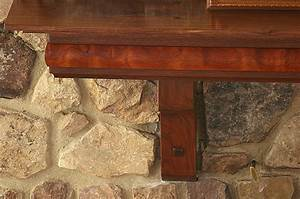 Black Walnut Mantel with Quilted Spanish Cedar Inlay
