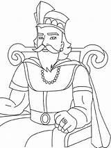 Coloring King David Uzziah Related Nathan Printable sketch template