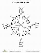 Compass Rose Coloring Map Worksheet Printable Maps Grade Pages Worksheets Activities Education Skills 3rd Learning Teaching Studies Lesson Template Clipart sketch template