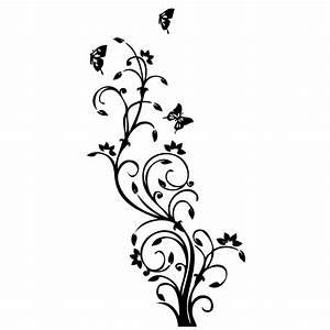 Deko Schmetterlinge Groß : wandtattoo deko blumen schmetterling ornament ~ Yasmunasinghe.com Haus und Dekorationen