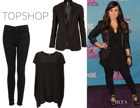 Demi Lovato's Topshop Silk Popper Tee By Boutique, Topshop