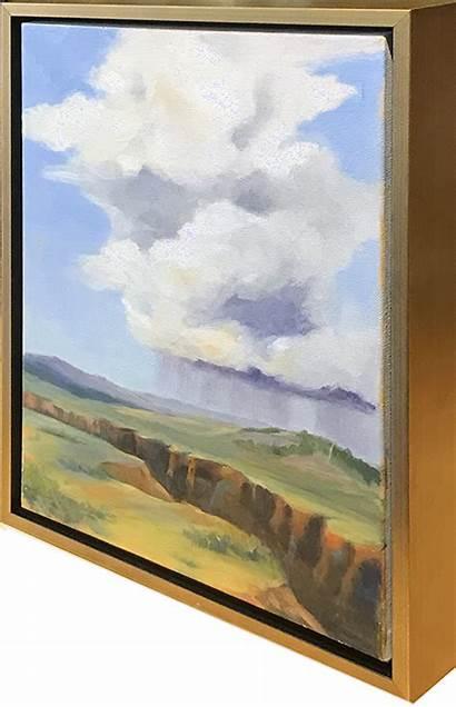 Framing Side Canvas Framed Contemporary Gold Float