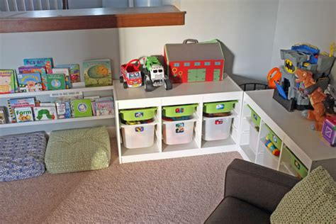 Toy Storage With Photo Labels