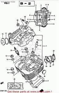 Suzuki Lt230e 1987  H  Cylinder Head
