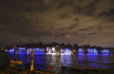 Boathouse Row by Dredge The Schuylkill Or Risk The Lights On Boathouse Row