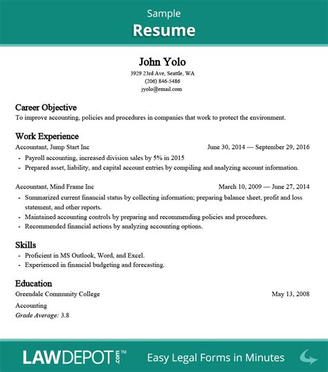 Thank You For Passing On My Resume by Resume Builder Free Resume Template Us Lawdepot