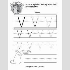 Uppercase Letter Tracing Worksheets (free Printables)  Doozy Moo