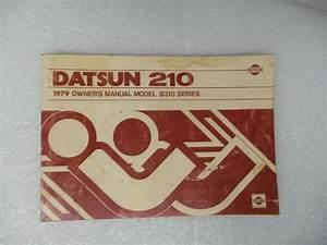 Owners Manual B310 Series For 1979 Datsun 210