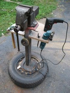 post vise stand homemade mobile vise  tool stand