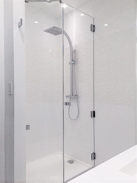 frameless inline shower enclosures