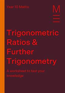 Part 3  Trigonometric Ratios  Free Worksheet
