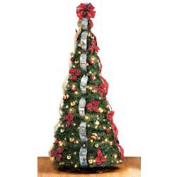 the thomas kinkade pop up 6 foot christmas tree hammacher schlemmer