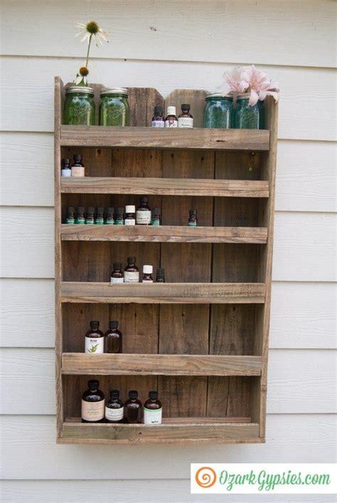reclaimed wood essential oils shelf  ozark gypsies