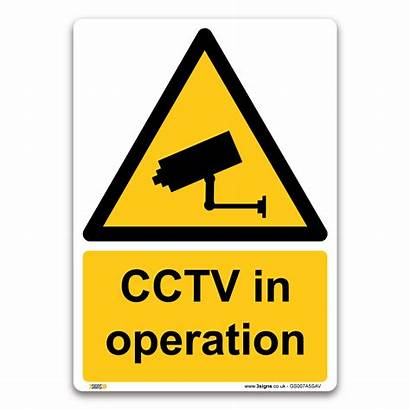 Cctv Sign Signs Safety Operation Warning Health