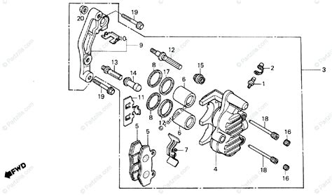 honda motorcycle 1983 oem parts diagram for front brake caliper partzilla
