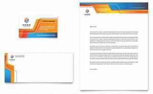 Hvac business card letterhead template design for Hvac business card template