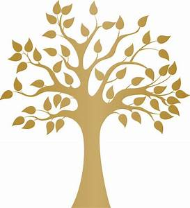 Modern Golden Tree Wall Decal - Contemporary - Wall Decals