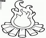 Campfire Coloring Designlooter 250px 47kb Kleurplaat sketch template