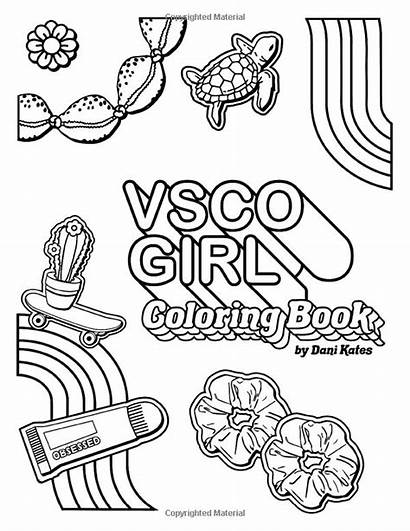 Coloring Vsco Vibes Trendy Scrunchies Pages Confident