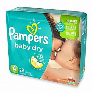 Pampers® Baby Dry™ 28-Count Size 4 Jumbo Pack Disposable ...