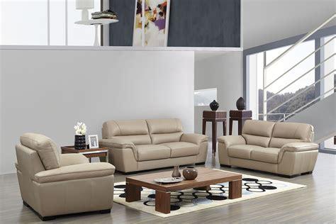 esf  italian leather modern sofa set