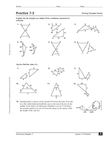 Proving Triangles Congruent Worksheet Answer Key  Triangle Similarity Worksheet Modaklikproving