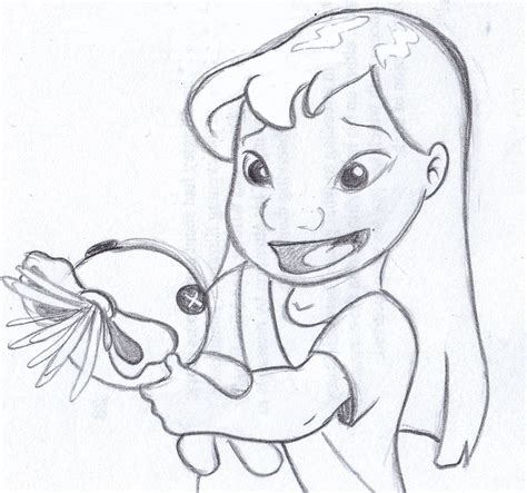 disney sketch   scrump lilo  stitch art