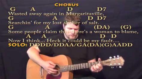 Margaritaville (jimmy Buffett) Strum Guitar Cover Lesson With Lyrics/chords