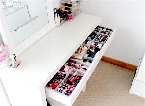ikea malm dressing table makeup and beauty storage ideas