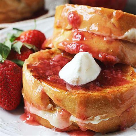 Strawberry Cheesecake Stuffed French Toast High Heels