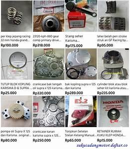 Daftar Harga Suku Cadang Motor