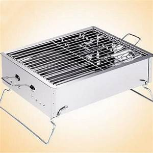 Vintage stainless steel outdoor grill bbq