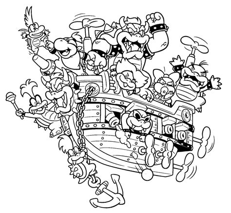 Bowser Jr Kleurplaat by Bowser Jr Mask Coloring Page Coloring Pages For All Ages