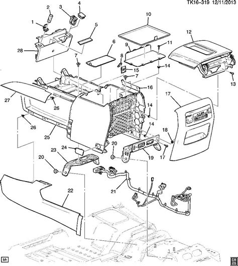 2005 Gmc Engine Diagram by 2015 Gmc Yukon Xl Denali Center Console Atmosphere