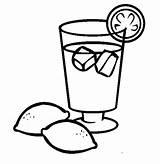 Coloring Drinks Pages Printable Lemonade sketch template